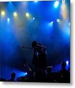 Music In Blue - Montreal Jazz Festival Metal Print