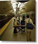 Music In New York Subway Metal Print