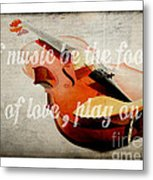 Music Lover Card Metal Print