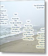 Music Of The Wind And Waves Poem On Ocean Background Metal Print