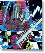 Music On The River Stl Style Metal Print