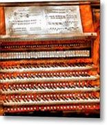Music - Organist - The Pipe Organ Metal Print by Mike Savad