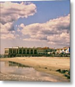 Music Pier From The Beach Metal Print