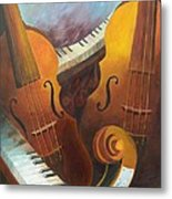Music Relief Metal Print by Paula Marsh