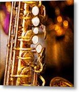 Music - Sax - Sweet Jazz  Metal Print by Mike Savad