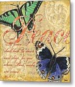 Musical Butterflies 2 Metal Print by Debbie DeWitt