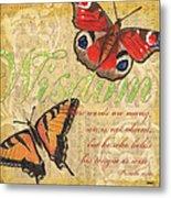 Musical Butterflies 4 Metal Print