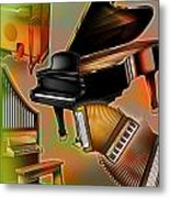 Musical Instruments With Keyboards Metal Print