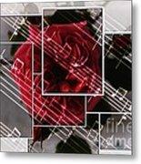 Musical Rose Montage Metal Print