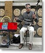 Musician In Chinatown In San Francisco Metal Print