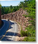 Muskoka Drive Through Metal Print