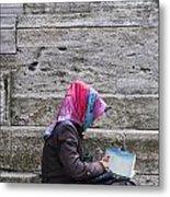 Muslim Woman At Mosque Metal Print