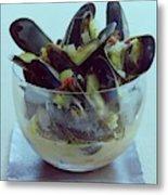 Mussels In Broth Metal Print