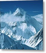 Mustagh Tower At Center And Masherbrum Metal Print