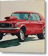 Mustang Launch Metal Print