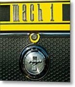 Mustang Mach 1 Emblem 2 Metal Print