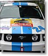 Mustang Race Car Metal Print