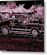 Mustang Rose Metal Print
