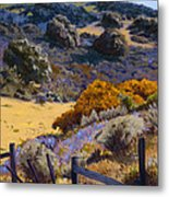 Mustard And Lupine Metal Print