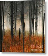 Mute Dog Forest Triptych Panel 1 Metal Print