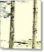 Muted Tree Trio Metal Print