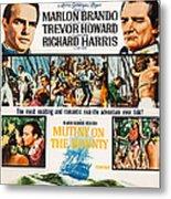 Mutiny On The Bounty, Us Poster Art Metal Print