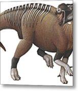 Muttaburrasaurus Dinosaur Metal Print