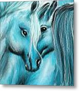 Mutual Companions- Fine Art Horse Artwork Metal Print