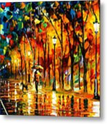 My Best Friend - Palette Knife Oil Painting On Canvas By Leonid Afremov Metal Print