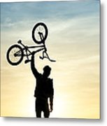 Bmx Biking Metal Print by Tim Gainey