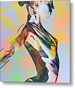 My Colorful Ballerina  Metal Print
