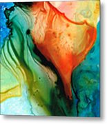My Cup Runneth Over - Abstract Art By Sharon Cummings Metal Print
