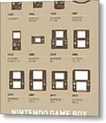 My Evolution Nintendo Game Boy Minimal Poster Metal Print