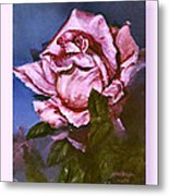 My First Rose Metal Print
