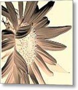My First Sunflower Metal Print