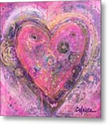 My Heart Of Circles Metal Print