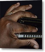 My Afro Blues Harmonica - Double Play Blues Metal Print