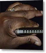 My Afro Blues Harmonica - Solo Blues Metal Print