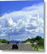My House Over The Hill Under The Clouds Metal Print