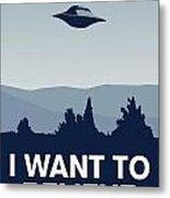 My I Want To Believe Minimal Poster-xfiles Metal Print