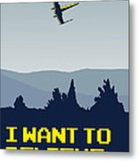 My I Want To Believe Minimal Poster- Xwing Metal Print by Chungkong Art