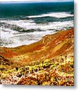 My Impression Of California Coastline Metal Print