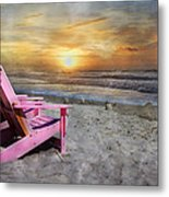 My Life As A Beach Chair Metal Print