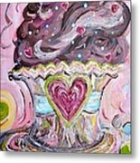 My Lil Cupcake - Chocolate Delight Metal Print