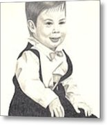 My Little Boy Metal Print
