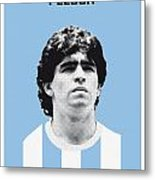 My Maradona Soccer Legend Poster Metal Print
