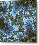 My Maui Fractal Art Abstract Palms And Blue Sky And Waters Metal Print