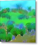 My Morning Window View Metal Print