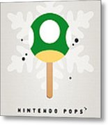 My Nintendo Ice Pop - 1 Up Mushroom Metal Print by Chungkong Art