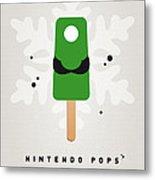 My Nintendo Ice Pop - Luigi Metal Print